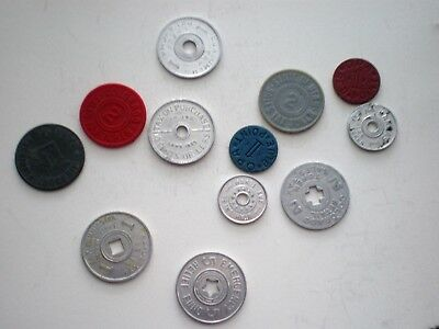 Vintage Sales Tax Tokens - Lot Of 12 - Nice Group