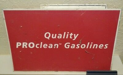 Vintage Quality Proclean Gasolines Tin Sign