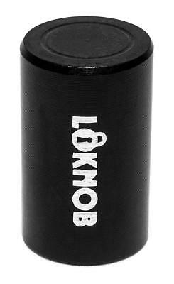 "Loknob Aluminum Tour cap 1/2"" Black - for Boss type pedals etc with 6mm shafts"