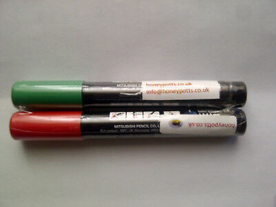 2 Queen Marking Pens - Red & Green