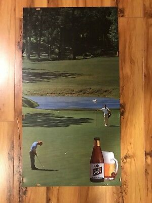 1970's Schlitz Beer golf background transparent insert for lighted sign,