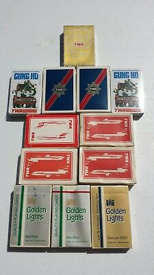 Lot of 12 Vintage TWA Playing Playing Cards Airlines Airplanes Sealed Different