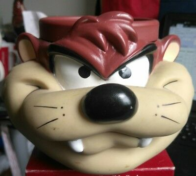 Looney tunes tazmanian devil 1993 3D Vinly Mug/Cup Warner Brothers Used