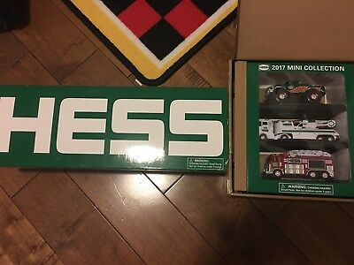 hess truck 2014 2017 lot of  mini collection 2014 50th Anniversary