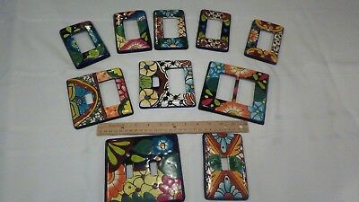 Talavera Mexican Pottery wall plate light switch covers - set of 10
