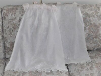 Antique/Vtg Baby Christening Gown/Slip/Ensemble/French Lace/Pintuck/Antique Doll
