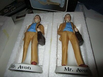 Mr. Avon - Buyng Two  - 1985 - Porcelain Club Bottle For Naac - Hand Painted