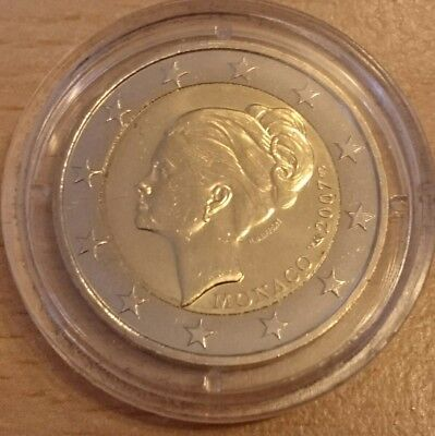 MONACO 2 Euro 2007 Grace Kelly im Etui.  Sehr rar Original