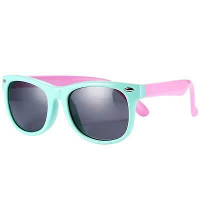 Pro Acme TPEE Rubber Flexible Kids Polarized Wayfarer Sunglasses for Baby and Ch