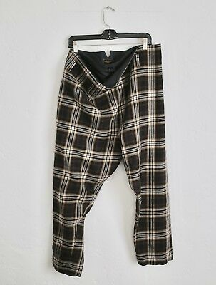 VIVIENNE WESTWOOD Anglomania archive 90s double waist tartan paperbag trousers