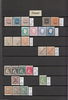 Timor schönes Lot - Portugese Colonies Timor nice collection