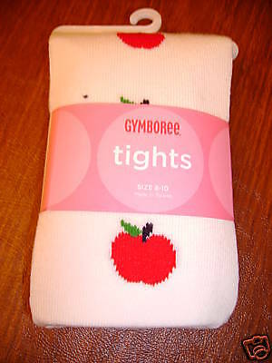 NWT Gymboree prep school apples apple tights 8 10 9