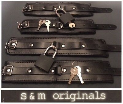 Bondage kit lockable handcuffs ankle restraints High quality guaranteed New edt
