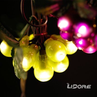 LIDORE 100 LED Purple&Green Grape String Lights. Grapevine Lights with 10 listed
