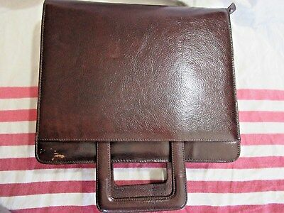 NEW Franklin Covey Leather 7 Ring Binder Briefcase Stow Handle Original $209.00
