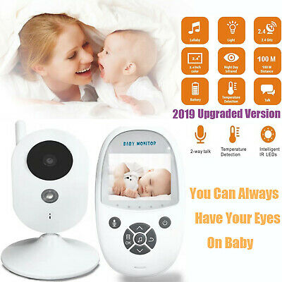 2.4 Baby Monitor 2.4GHz Color LCD Wireless Audio Talk Night Vision Digital Video