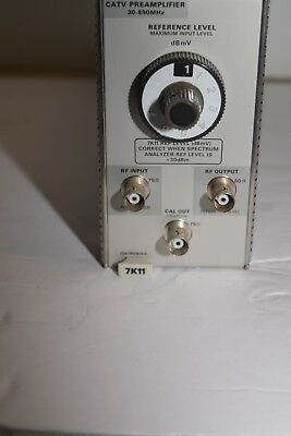 TEKTRONIX 7K11 CATV PREAMP 30 - 890 MHZ,  MAX 0 dBMv - 79 dBMv, 75 OHMS IN/OUT