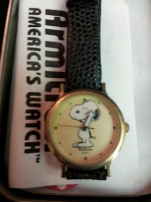 Snoopy Armitron Watch with Case.