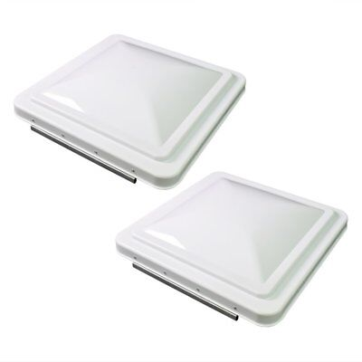 "2 Pack White 14"" x 14"" Replacement Roof Vent Cover Camper RV Trailer Ventline"