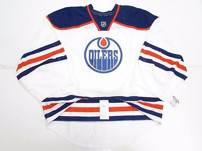 finest selection bc36c cd000 EDMONTON OILERS AUTHENTIC Away Team Issued Reebok Edge 2.0 Jersey Goalie  Cut 58