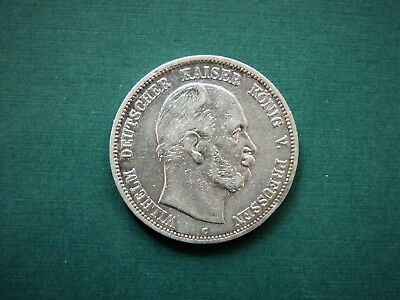 German States Prussia 5 Mark, 1876 C (SILVER)