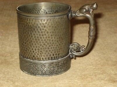 Antique Meridian Silver Plated Figural Baby Cup
