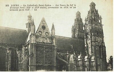 CPA -Carte postale- FRANCE- TOURS - Sa Cathédrale - (iv 536)​