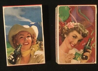Coca Cola playing cards with tax stamp NOS Coke