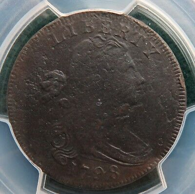 1798 Large Cent PCGS F Detail S-161 1st Hair Style