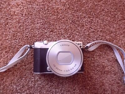 Nikon 1 J5 20.8MP Digital Camera - Silver (Kit w/ PD 10-30mm Lens) Barely Used