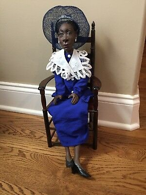 Daddy's Long Legs African American Doll Jackie With Chair. Display Only
