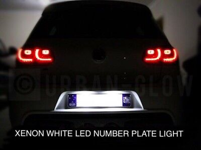 Vw Golf Mk5 Mk6 Mk7 Xenon Bright White Led Number Plate Light Units No Error