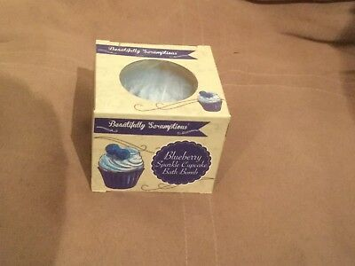 Blueberry Sparkle Cupcake Bath Bomb New Boxed Mothers Day / Birthday