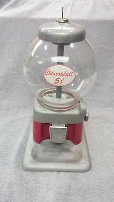 1950 Perk Up  5 Cent Vintage Coin Op Chlorophyll Candy Vending Machine Gumball