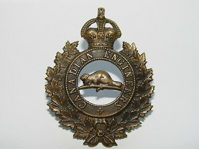 Canada WW1 CEF Cap Badge The Canadian Engineers, RODEN BROS marked