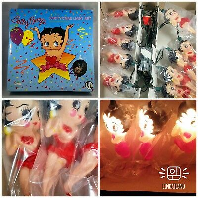 BETTY BOOP PARTY LIGHTS 10 LightS PATIO LIGHTS  IndoorR OutdooR Lights VINTAGE