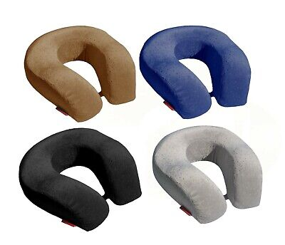 BookishBunny Memory Foam Larger U Shape Travel Neck Pillow Airplane Car Cushion