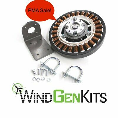 FP-640 PMA & Bracket - Permanent Magnet Alternator Wind Turbine Generator