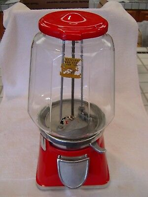 1937 Bloyd Lucky Boy 5 Cent Vintage Coin Op Gumball Vending Machine Candy Nuts