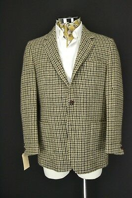 "Vintage Tailored Harris Tweed Hacking Jacket Blazer 2 Button 42"" Regular"