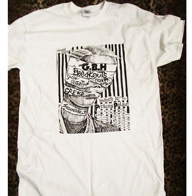 GBH Vintage Flyer T-Shirt,NEW Size 3XL,Punk,Exploited,Black Flag,Germs