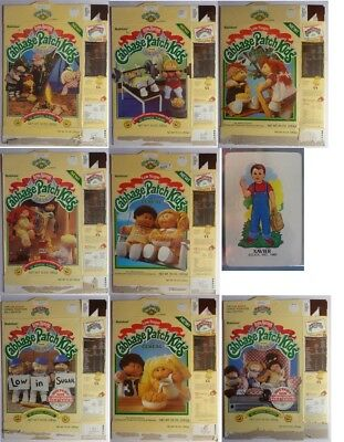 Cabbage Patch Kids Cereal Box complete SET of 8 Ralston 1985 dolls + premium