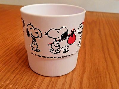 "Vintage Snoopy Plastic Drinking Cup 1958 1965 3"" Tall Never Used!"