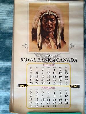 Vintage Map: Royal Bank of Canada, Canadian Indians (1940).