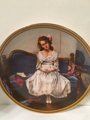 Waiting at the Dance by Norman Rockwell Collector's Plate with certificate