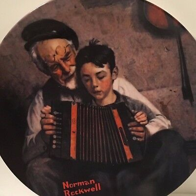 The Music Maker By Norman Rockwell Collector's Plate with Certificate
