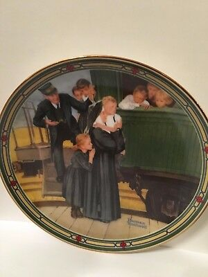 An Orphan's Hope by Norman Rockwell Collector's Plate with Certificate