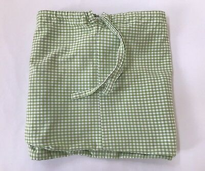 Pottery Barn Kids Green & White Gingham Basket Liner Extra Large XL