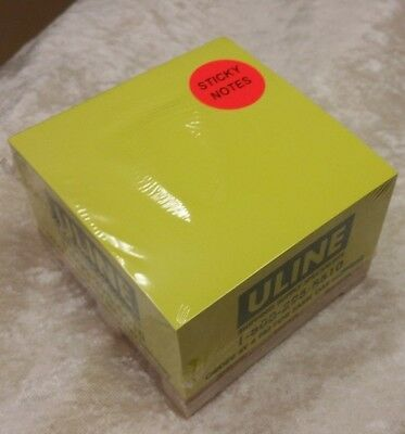 Sticky Note Cube Pad on Miniature Wood Pallet ULINE Imprint - NEW Sealed