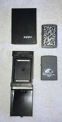 Vintage Lot Of 2 Unused Zippo Lighters w/ boxes Usmail Collectors